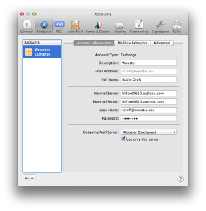 Configuring Mac Mail to Access Microsoft Office 365 Exchange Online